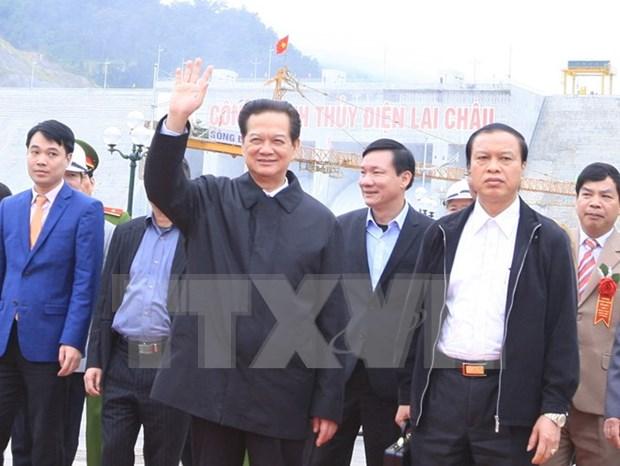 Celebran puesta en operacion del generador 1 de Central Hidroelectrica Lai Chau hinh anh 1