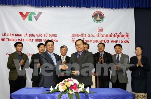 Ayuda Vietnam a Laos en desarrollo de radiodifusion hinh anh 1