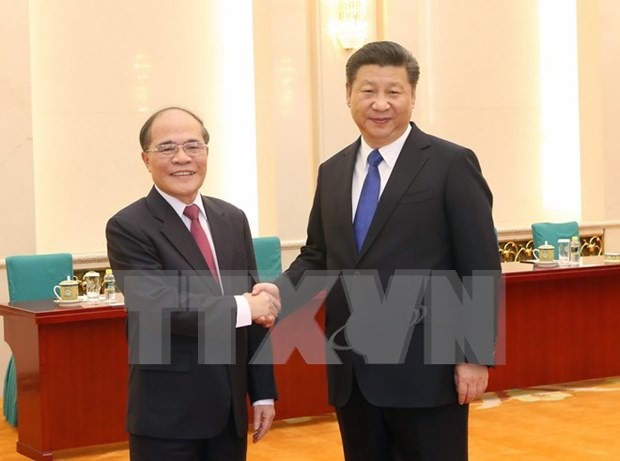 Dirigente parlamentario vietnamita se entrevista con presidente chino hinh anh 1