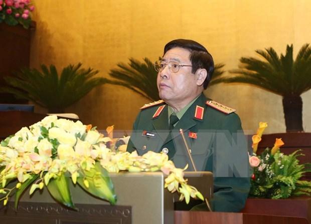Ministro vietnamita de Defensa inicia visita oficial a Laos hinh anh 1