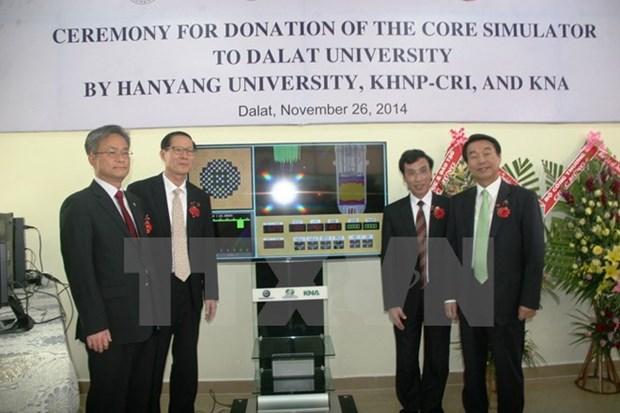 Instituto sudcoreano entrega equipamientos cientificos a universidad vietnamita hinh anh 1