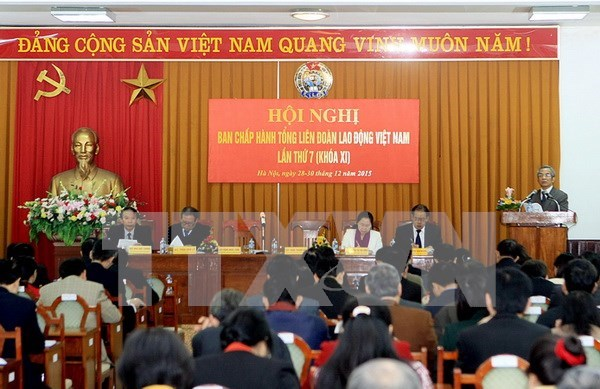 Confederacion de Trabajadores vietnamitas debate pautas para 2016 hinh anh 1