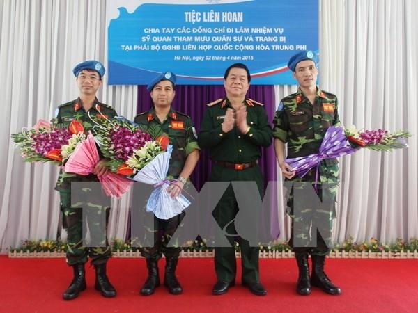 2015, ano de proactiva participacion vietnamita en misiones de paz de ONU hinh anh 1