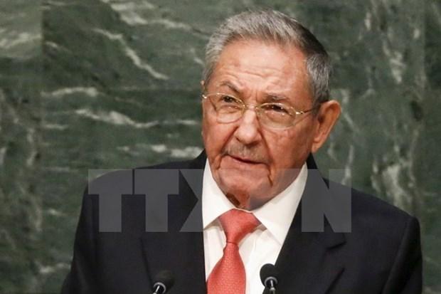 Dirigentes de Vietnam felicitan a Raul Castro por Fiesta Nacional hinh anh 1