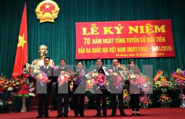 Localidades vietnamitas conmemoran 70 anos de las primeras elecciones generales hinh anh 1