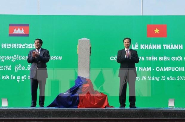Vietnam, Laos y Cambodia casi concluyen demarcacion fronteriza hinh anh 1