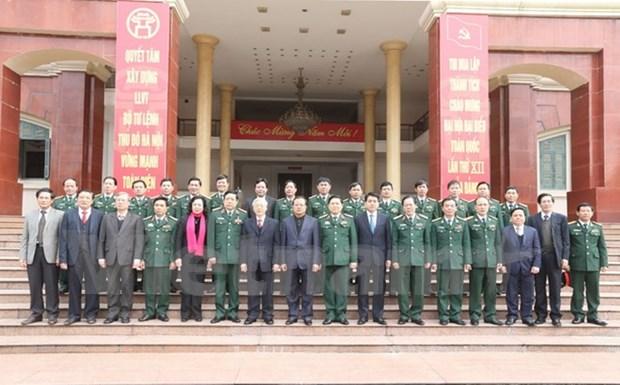 Secretario general del Partido resalta hazanas de Comandancia de Hanoi hinh anh 1