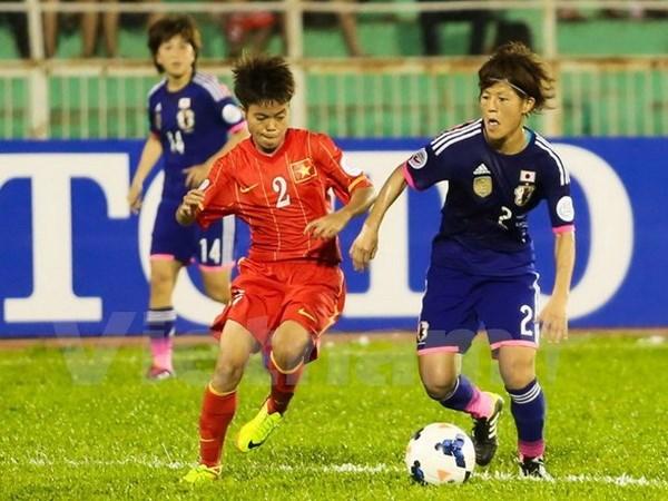Seleccion femenina de futbol se prepara para eliminatoria de Rio 2016 hinh anh 1