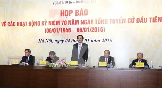 Organizaran en Vietnam acto conmemorativo de las primeras elecciones generales hinh anh 1