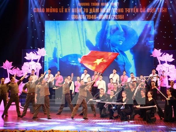 Programa artistico por aniversario 70 de primeras elecciones generales de Vietnam hinh anh 1