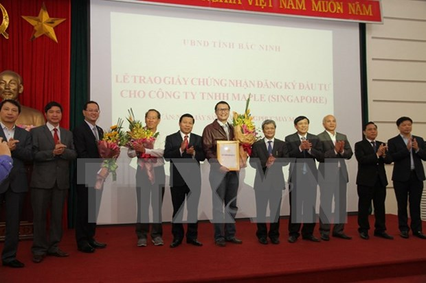 Bac Ninh otorga licencia de inversion para empresa singapurense hinh anh 1
