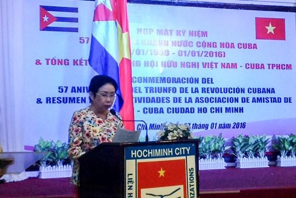 Ciudad Ho Chi Minh consolida relaciones de amistad con Cuba hinh anh 1