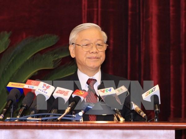 Lider partidista insta efectivos preparativos de XII Congreso Nacional de PCV hinh anh 1