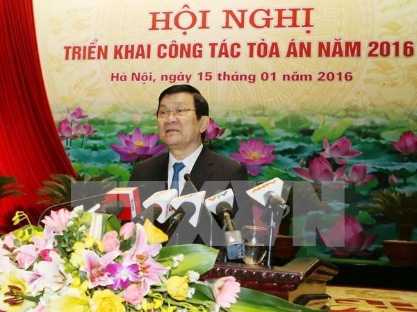 Exige presidente garantizar imparcialidad en labores de las cortes populares hinh anh 1