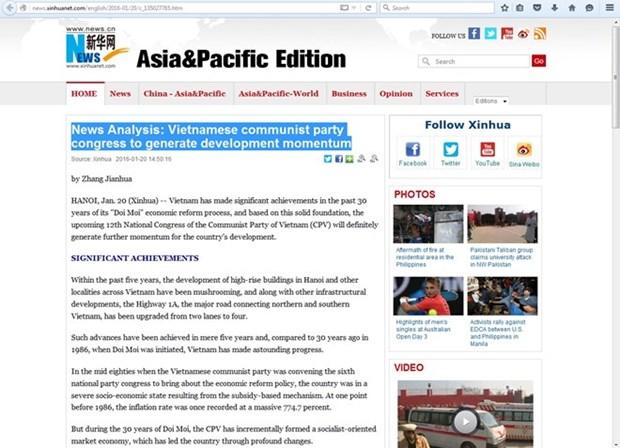 Destaca prensa internacional significados del Congreso partidista de Vietnam hinh anh 1