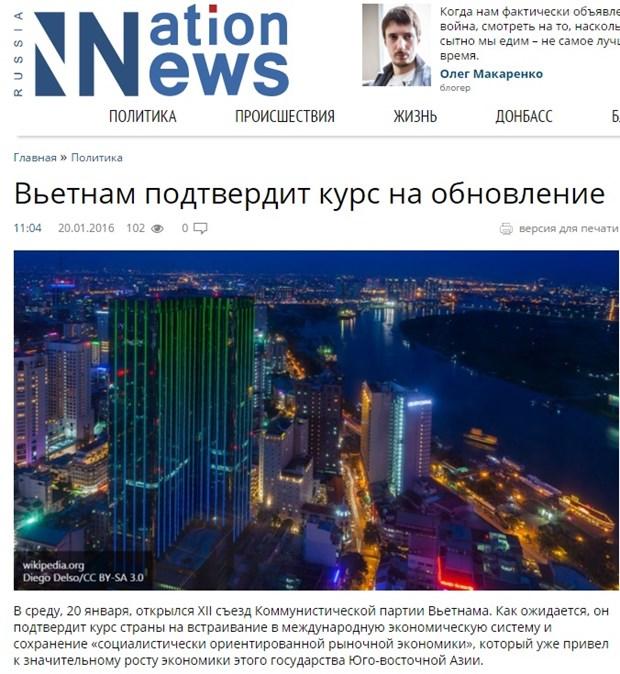 Prensa rusa alaba logros economicos de Vietnam hinh anh 1