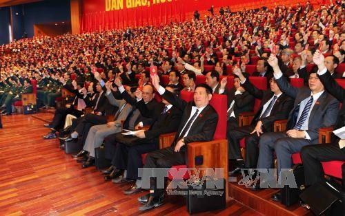 Delegados de XII Congreso partidista asisten a sesion preparatoria hinh anh 3