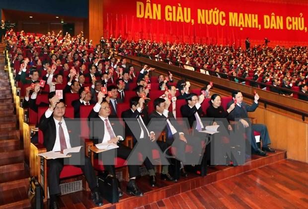 Delegados de XII Congreso partidista asisten a sesion preparatoria hinh anh 1