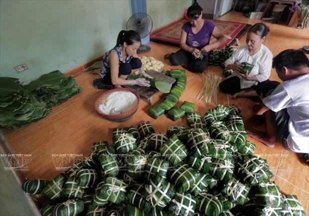 Empresa vietnamita exporta Banh Chung a Estados Unidos y Europa hinh anh 1