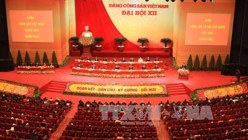 Inauguran el XII Congreso Nacional del Partido Comunista de Vietnam hinh anh 1