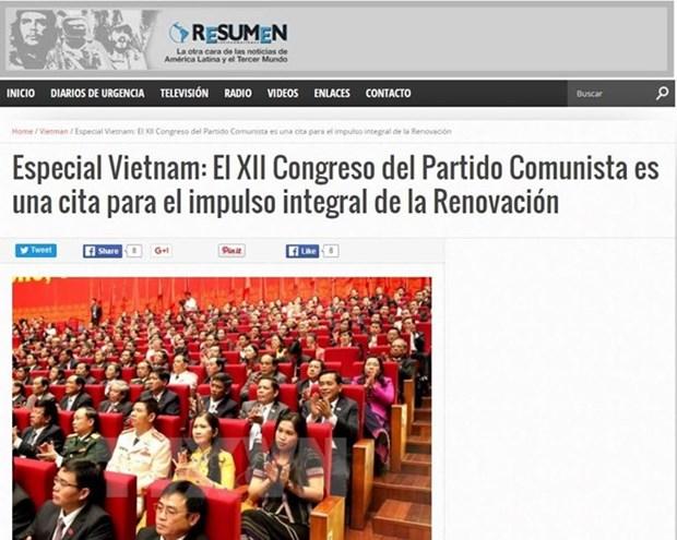 Prensa argentina resalta importancia del Congreso del PCV hinh anh 1