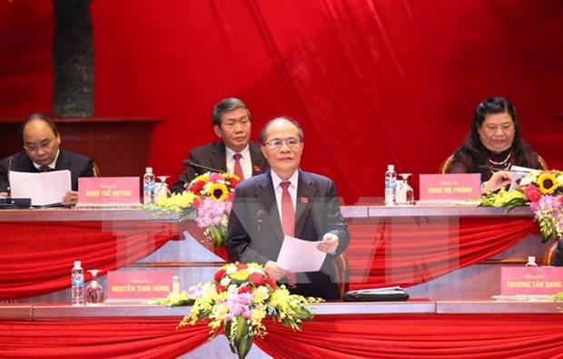 XII Congreso Nacional del PCV: Comunicado de prensa sobre el tercer dia de trabajo hinh anh 1