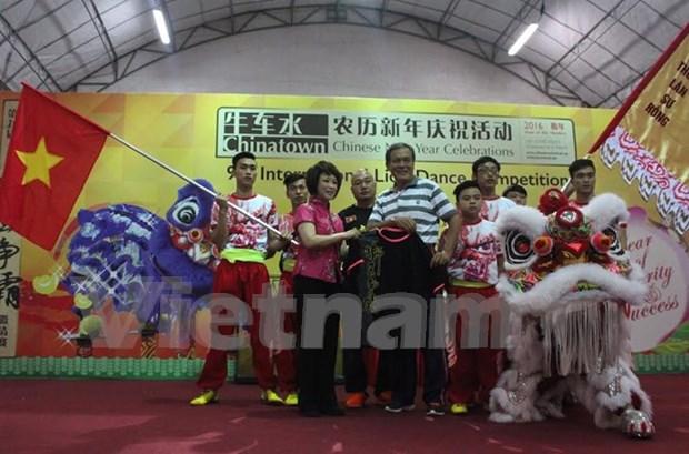 Vietnam participa en concurso de danzas de leon en Singapur hinh anh 1