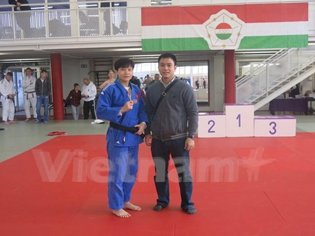 Bronce para atleta vietnamita en Copa de Judo de Hungria hinh anh 1