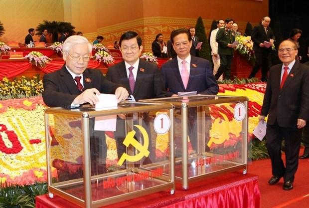 Estructura del Comite Central del Partido Comunista de Vietnam del XII mandato hinh anh 1