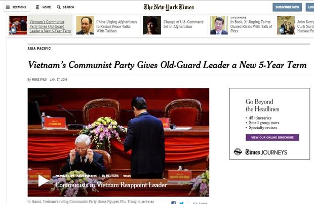 XII Congreso del PCV: Prensa estadounidense destaca estabilidad politica de Vietnam hinh anh 1