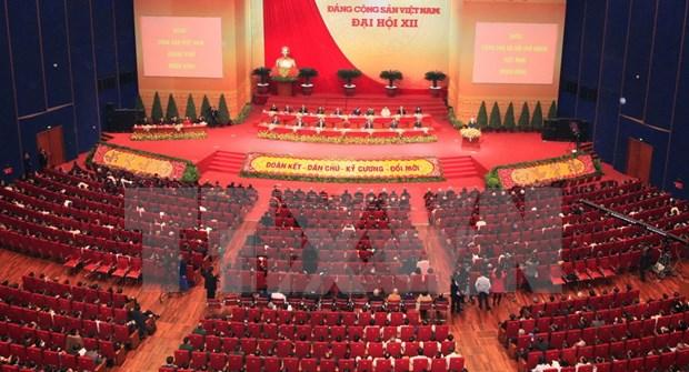 Comunicado de prensa sobre sesion de clausura del XII Congreso del PCV hinh anh 1