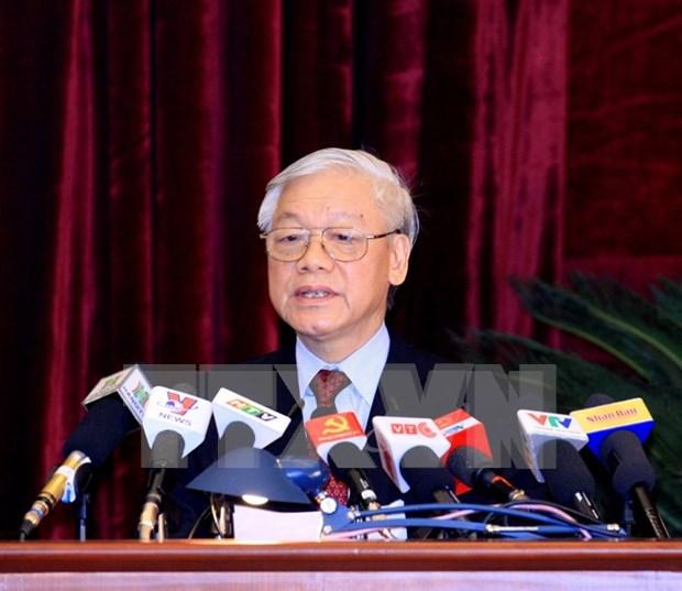 Lider partidista destaca contribucion de prensa al exito de XII Congreso hinh anh 1