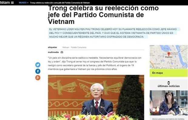 Telam de Argentina publica sobre Congreso del PCV hinh anh 1