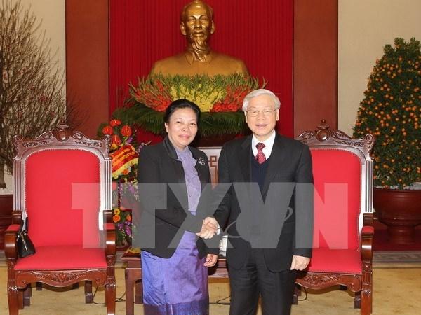 Lider partidista vietnamita reafirma solidaridad especial Vietnam - Laos hinh anh 1