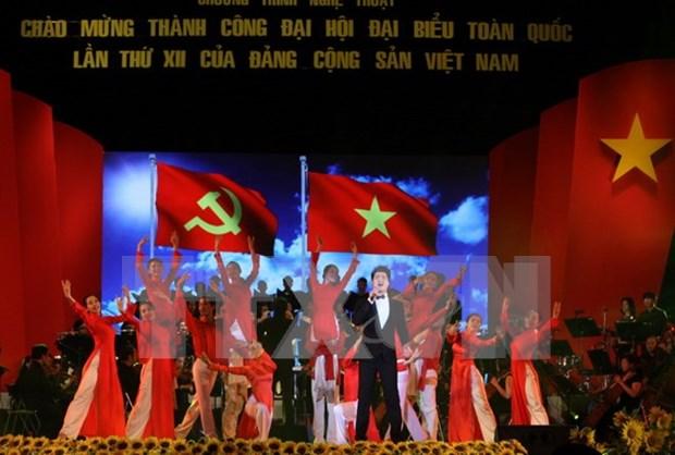 Gala en Ciudad Ho Chi Minh en saludo al exito del XII Congreso del PCV hinh anh 1