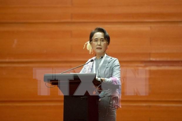 Lider opositora de Myanmar llama a la cooperacion por interes nacional hinh anh 1