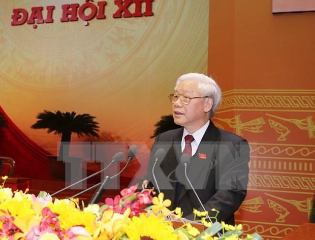 Lideres mundiales felicitan al secretario general del PCV por su reeleccion hinh anh 1