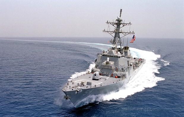 Buque de EE.UU. se acerca a isla ocupada ilegalmente por China en Mar del Este hinh anh 1