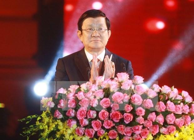 Presidente de Vietnam se reune con coterraneos residentes en extranjero hinh anh 1