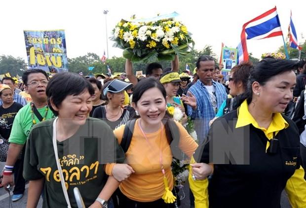 """Tailandia inicia proceso legal contra """"camisas amarillas"""" de protestas en 2008 hinh anh 1"""