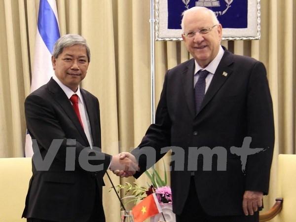 Presidente de Israel desea intensificar lazos con Vietnam hinh anh 1