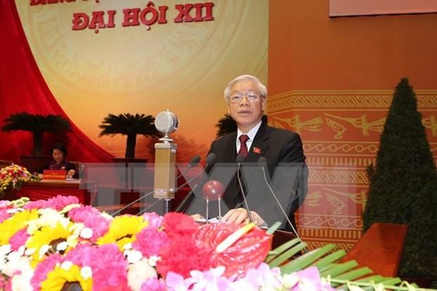 Felicitan dirigentes extranjeros a secretario general de PCV hinh anh 1