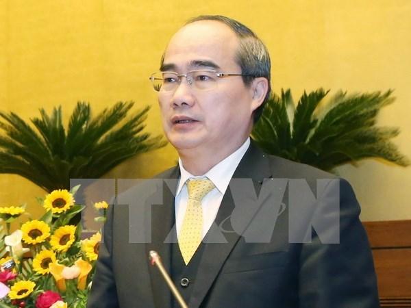 Dirigente del Frente de la Patria recibe al arzobispo de Ciudad Ho Chi Minh hinh anh 1