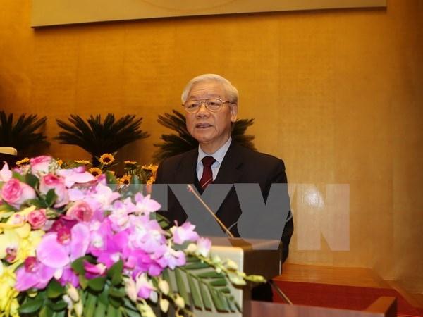 Mas mensajes de felicitaciones enviadas al reelecto lider partidista de Vietnam hinh anh 1