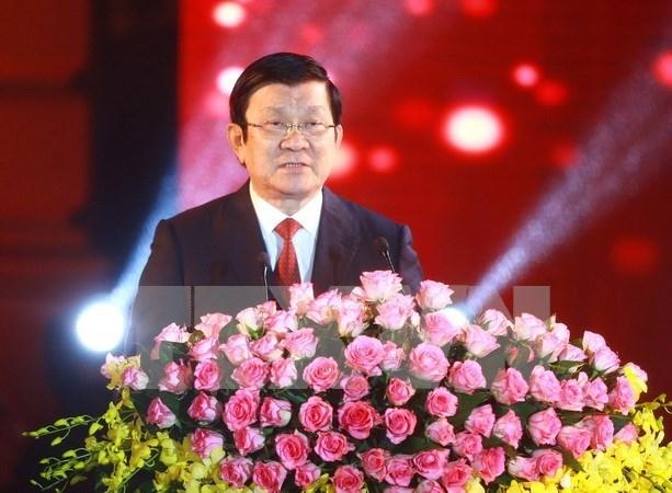 """Presidente vietnamita: """"Que todo lo mejor venga al pais en nuevo ano"""" hinh anh 1"""