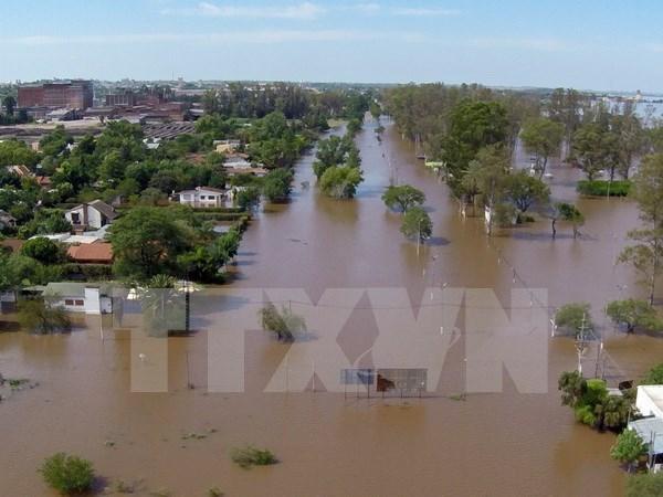 Miles de indonesio evacuados por deslaves e inundaciones hinh anh 1
