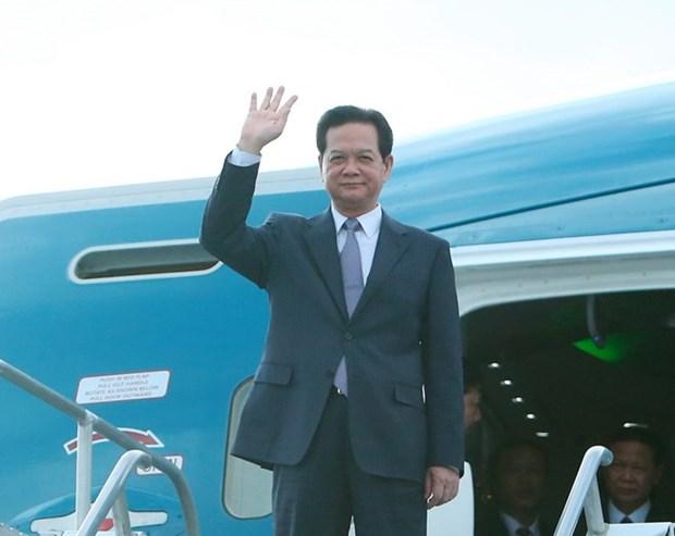 Llega premier vietnamita a Estados Unidos para la Cumbre ASEAN-EE.UU. hinh anh 1