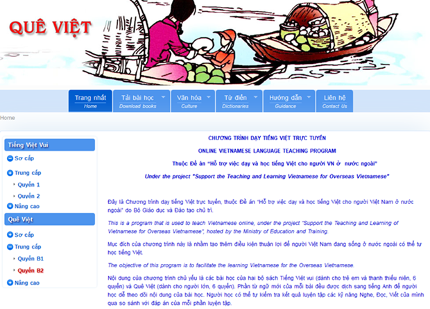 Perfeccionan programa de ensenanza online de idioma vietnamita hinh anh 1