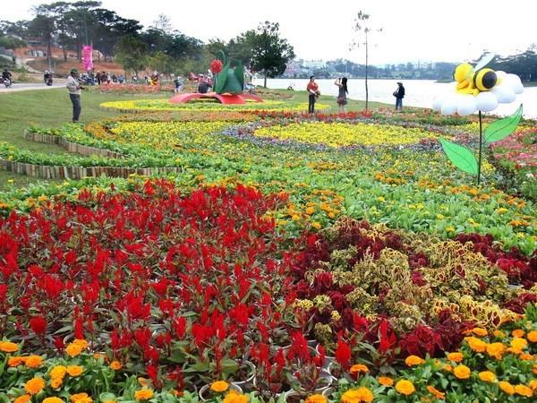 Parque de flores de Da Lat, punto de encuentro de la belleza natural hinh anh 1