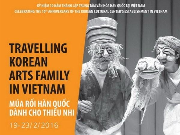 Arte de marionetas de Sudcorea ameniza a publico vietnamita hinh anh 1